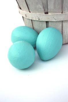 Shabby Cottage Chic Robins Egg Blue Paper Mache by SecondHandNews, $9.95