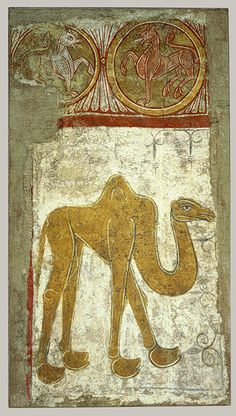 Animals, both real and fantastic, occupied an important place in medieval art and thought. Learn more and view a slideshow of works from The Cloisters in this Heilbrunn Timeline of Art History essay. | Wall Painting of a Camel, first half 12th century (perhaps 1129–34). The Metropolitan Museum of Art, New York. The Cloisters Collection, 1961 (61.219) #Cloisters