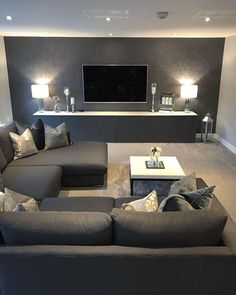 54 The best living room interior design you can try in your home design – Living Room Designs Living Room Grey, Living Room Bedroom, Interior Design Living Room, Living Room Designs, Living Rooms, Diy Bedroom, Bedroom Small, Best Living Room Design, Bedroom Designs
