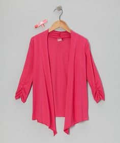 Take a look at this Pixie Katy Cardigan & Hair Tie by Gracie on #zulily today!