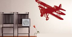 A removable wall decal displaying a vintage airplane design. Our old school airplane wall decal is an easy to install adhesive art, which is also very easy to remove. Ideal for those who love flying and/or airplanes. This design comes in 3 different sizes and starts at $38.