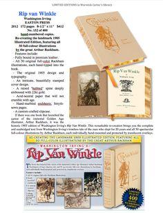 Rip van Winkle : Washington Irving - EASTON PRESS Rip Van Winkle, Easton Press, Washington, The Originals, Books, Beautiful, Libros, Book, Washington State