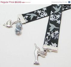 Christmas Sale Hummingbird Ribbon Bookmark by WhispySnowAngel, $4.50
