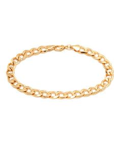 Look what I found on #zulily! Gold Cuban Link Bracelet #zulilyfinds