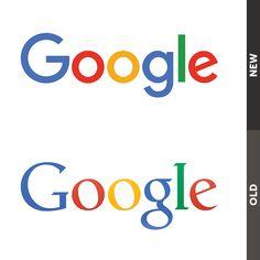 Google - New logo vs. Old logo