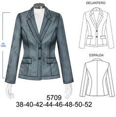 Blazer Flat Drawings, Paper Clothes, Corporate Wear, Clothing Sketches, Diy Fashion Accessories, Uniform Design, Jackets For Women, Clothes For Women, Fashion Design Sketches