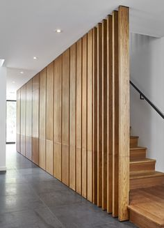 Type: Private Residence – Toronto Completed: 2016 Sumach Street was last modified: June 2016 by Beauparlant Design Farmhouse Outdoor Decor, Timber Stair, Porch Wood, Front Yard Decor, Modular Housing, Room Partition Designs, Stair Walls, Small Space Interior Design, Stair Decor