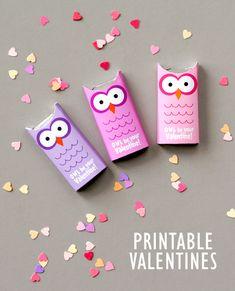 Kids Classroom Valentine's Day Ideas - owl valentines