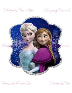Frozen Iron on Transfer Instant download - sign - birthday decoration - party - Elsa - Anna, $2.75