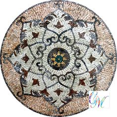 MD063 Marble Mosaic Medallion