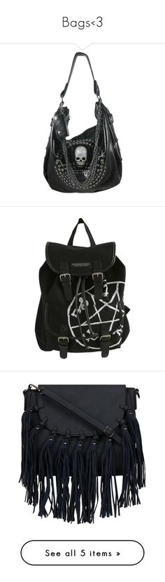 """Bags<3"" by paige-miranda-curran on Polyvore featuring bags, handbags, purses, accessories, studded purse, rhinestone handbags, gunmetal handbag, rhinestone purses, skull hand bags and backpacks"