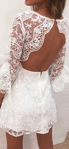 beautiful white lacer dress