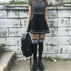 Monthly outfit sale - designer recommend outfit set в 201 Edgy Outfits, Mode Outfits, Grunge Outfits, Girl Outfits, Fashion Outfits, Formal Outfits, Kawaii Fashion, Cute Fashion, Emo Fashion