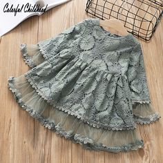 Toddler Girls Dress for Fall Autumn Mustard Grey Pink Boho Outfit, girl fashion fashion kids styles swag diva girl outfits girl clothing girls fashion Frocks For Girls, Toddler Girl Dresses, Toddler Outfits, Kids Outfits, Toddler Girls, Infant Fall Outfits Girl, Dresses For Toddlers, Dresses For Girls, Lace Toddler Dress