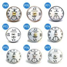Pushka Vintage Chic Clock Drawer Door Cupboard Knob Handle