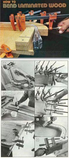 Bent Lamination - Bending Wood Tips and Techniques   WoodArchivist.com