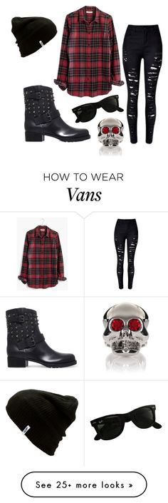 """""""Untitled #809"""" by zeniboo on Polyvore featuring Valentino, Vans, Madewell, Ray-Ban and Moschino"""