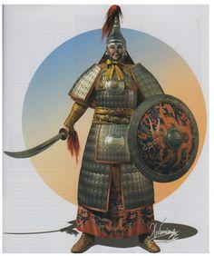 'pos'ly. Ochalean, but it's a lot of hvy. metal armor for an island nation...  [manchu warriors]