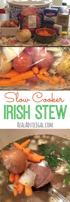 Celebrate St. Patrick's Day with delicious Easy Irish Stew slow cooker recipe.