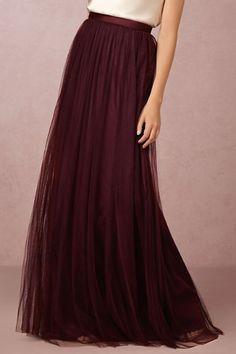 Cabernet Louise Tulle Skirt | BHLDN