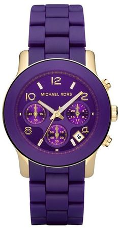 michael kors--loving the purple! Michael Kors Clutch, Outlet Michael Kors, Cheap Michael Kors, Handbags Michael Kors, Michael Kors Jewelry, The Purple, All Things Purple, Shades Of Purple, Purple Rain