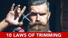 10 Laws Of Beard Trimming - My Fashion World 2019 Trimmed Beard Styles, Hair And Beard Styles, Hair Styles, Beard Growth, Beard Care, Beard Trimming Guide, Trimming Hair, How To Trim Mustache, Trim Beard How To