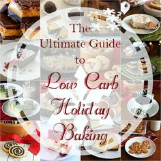 Best Low Carb Christmas Cookies, Cakes and other desserts. Have a healthy, happy holiday season.