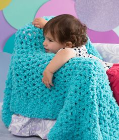 Nap Time Baby Blanket Free Crochet Pattern from Red Heart Yarns