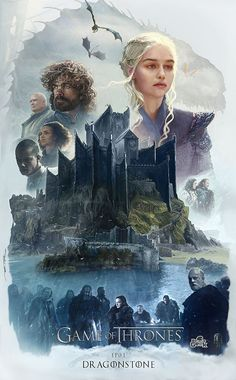 Pin this to your Board  Get awesome Game of Thrones Merchandise on www.World-of-West!  Dragonstone by ertacaltinoz