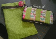 Diaper and wipes case I made for my baby girl.
