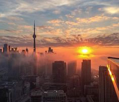Foggy Mornings by Jazzy Vibes Toronto Canada, Toronto City, Downtown Toronto, Wallpaper Toronto, City Wallpaper, Toronto Photography, Sunset Photography, Torre Cn, Toronto Skyline