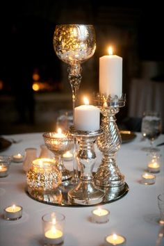 candles as centerpieces                                                                                                                                                                                 More
