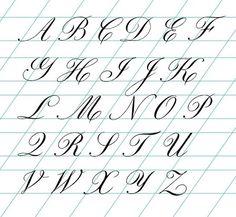 Resultado de imagen de alfabeto copperplate