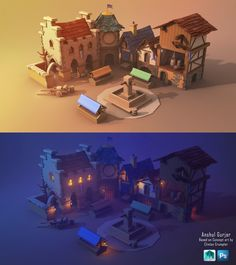 ArtStation - Iso-House student project (Day-Night Renders), Shashank Mehta