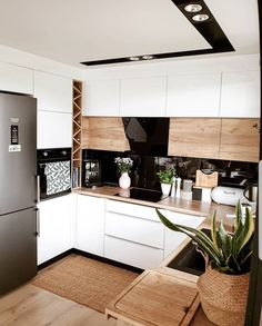 home decor kitchen Inspi_Deco on Instag - Kitchen Room Design, Outdoor Kitchen Design, Modern Kitchen Design, Home Decor Kitchen, New Kitchen, Kitchen Interior, Home Kitchens, Modern Grey Kitchen, French Kitchen Decor