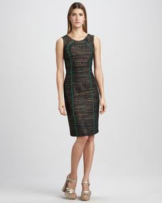 Piped Dress - Neiman Marcus