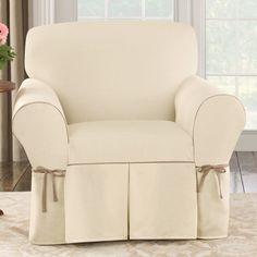 Sure Fit Cotton Duck Arm Chair Slipcover