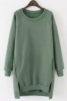Fashionable Women's Scoop Neck Long Sleeves Hi. Hoodie Sweatshirts, Hoody, Moda Zara, Sweatshirt Outfit, Mode Hijab, Fashion Outfits, Womens Fashion, Trendy Fashion, Long Sweaters