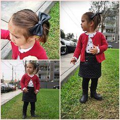 Hoy Tiara escogió su propia ropa y decidió ponerse falda para ir a ver a sus amigos del nido por la tarde.