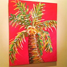 palm tree painting pink Tropical Paintings, Beach Paintings, Tree Paintings, Acrylic Paintings, Landscape Paintings, Landscapes, Palm Tree Drawing, Tree Drawings, Doodle Drawings