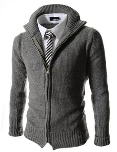 (FF09) TheLees Slim Fit Turtle Neck Knitted Long Sleeve Cardigan GRAY X-Large(US Medium) TheLees http://www.amazon.com/dp/B00GJS54A8/ref=cm_sw_r_pi_dp_XxXZtb0JGCMSKW32