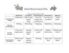 Babies lesson plan example...We should design something similar ...