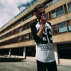 """Occulture 666"" Raglan Tee available at www.crmc-clothing.co.uk   WE SHIP WORLDWIDE Model - @jordanjcthomas Photography - @jt14photography #raglan #sixsixsix #baseballtee #pentagram #occult #altfashion #alternative #instafashion #fashionstatement #fashiongram #fashionista #instastyle #stylegram #fashionoftheday #dailyfashion #grungefashion #grunge #styles #style #alternativeguy #alternativeboy #alternativegirl #alternativeteen"