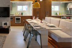 blog de decoração - Arquitrecos: Bancos estofados para mesas: Dos restaurantes à decoração residencial