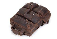 Image of Handmade Vintage Leather Backpack, Travel Backpack B826