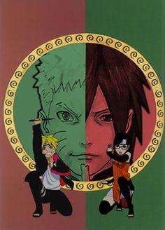 Naruto,Boruto,Sasuke y Sarada Kakashi E Sakura, Naruto And Sasuke, Sakura Haruno, Naruto Uzumaki, Anime Naruto, Boruto And Sarada, Sasunaru, Ninja, Dc Anime