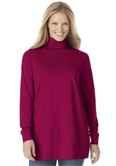 Plus Size Perfect cotton turtleneck