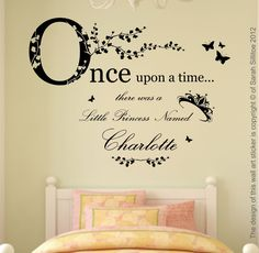 Wall Art Stickers | ... upon a Time Princess Wall Art Sticker Decal Mural - Fabulous Stickers