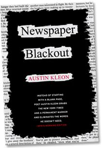 Blackout words on newspaper. Great for ESL.     With Simple Phrases. Create you own and share!