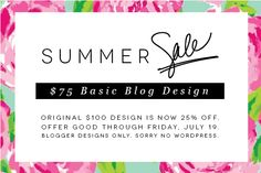 2013 Summer Sale for Blogger designs Email Marketing Design, E-mail Marketing, Email Design, Blog Design, Ad Design, Email Newsletter Design, Email Campaign, Summer Design, Sale Banner